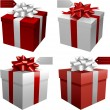 Red gift boxes — Stockvectorbeeld