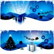 Blue Christmas headers — Stock Vector #6059138