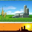 Farm barn background — Imagen vectorial