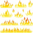 Royalty-Free Stock Vector Image: Flame design element
