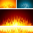 Fire background — Stock Vector