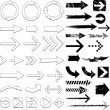 Arrow sign collection - Stock Vector