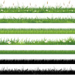 Stock Vector: Green grass collection
