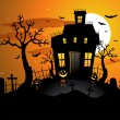 Halloween background invitation — Stockvektor