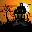 Halloween background invitation — Stockvectorbeeld
