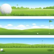 Golf banners — Stock Vector