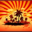 Tropical island background - Stock Vector