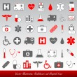 Medical healthcare icons — Stock Vector #6059282