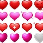 Various heart design — Stock Vector #6059285