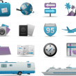Royalty-Free Stock Vector Image: Travel icons and symbols collection
