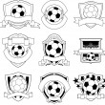 Vector soccer badge — Stock Vector