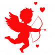 Cupid silhouette — Stock Vector