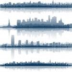 skylines da cidade de Nova york — Vetorial Stock