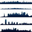 New york city skylines - Imagens vectoriais em stock