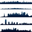 New york city skylines - Stockvectorbeeld