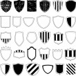 Shields emblem collection — Stock Vector
