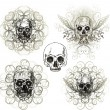 thumbnail of Grunge skull design