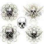 Grunge skull design — Stock Vector