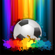 Stock Vector: Colorful soccer background