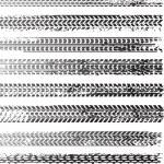 tracce di sporco pneumatico — Vettoriale Stock
