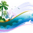 Abstract tropical background - Stock Vector
