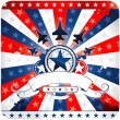 American patriotic background - Imagen vectorial
