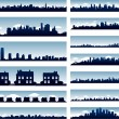 Stock Vector: Vector city skylines