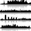 New york city skylines — 图库矢量图片