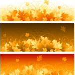 podzimní listí nápisy — Stock vektor