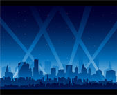 City nightlife — Stock Vector