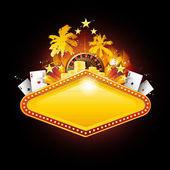 Bannière de casino de vegas — Vecteur