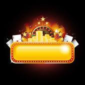 Casino banner — Stock Vector