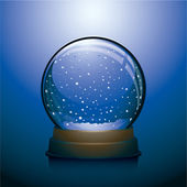 Blue vector Christmas snowglobe — Stock Vector