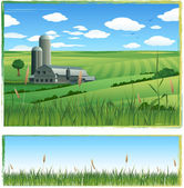 Farm barn background — Wektor stockowy
