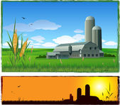 Farm barn background — Stock Vector