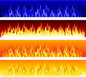 Flame banners — Stock Vector