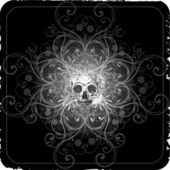 Skull background design — Stock Vector