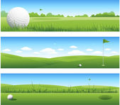 Golf banners — Stockvector
