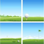 Banner Golf — Vettoriale Stock