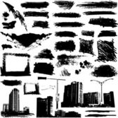 Grunge urban elements — Stock Vector