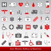 Medical healthcare icons — Stock Vector