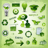Environment recycle elements — Stock Vector