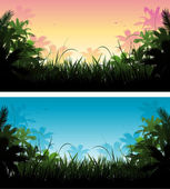Jungle background — Stock Vector