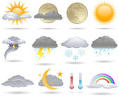 Vector weather icons collection — Stock Vector