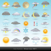 Vector weather icons collection — Stok Vektör