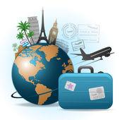 Antecedentes de viajes — Vector de stock