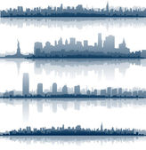 New york city skylines — Vecteur
