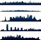 Horizons de la ville de new york — Vecteur