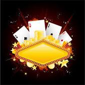 カジノ ギャンブルの背景 — ストックベクタ