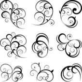 Vector scroll ornament — Vetor de Stock